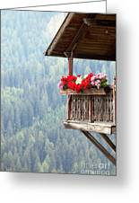 Balcony Overlooking The Forest Greeting Card