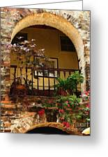 Balcony St Lucia Greeting Card