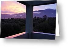 Balcony To Olympos Greeting Card