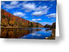 Bald Mountain Pond In Autumn Greeting Card