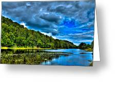 Bald Mountain Pond In Summer Greeting Card
