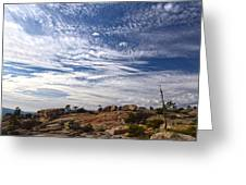 Bald Rock Glacial Erratics Greeting Card