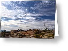 Bald Rock Glacial Erratics Greeting Card