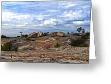 Bald Rock Panorama Greeting Card