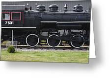 Baldwin 0-6-0 Steam Locomotive - Gorham New Hampshire Greeting Card