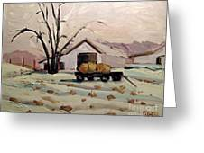 Bale Wagon  Greeting Card by Charlie Spear