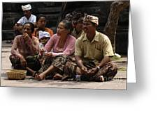 Bali Indonesia Proud People 3 Greeting Card