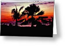 Bali Sunset Polaroid Transfer  Greeting Card