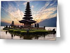 Bali Water Temple 2 Greeting Card