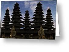 Bali Water Temple Greeting Card