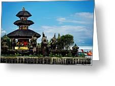 Bali Wayer Temple Greeting Card