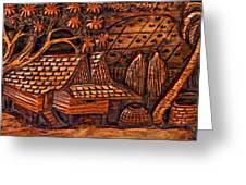 Bali Wood Carving Greeting Card