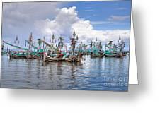 Balinese Fishing Boats Greeting Card