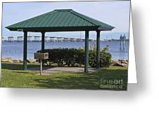 Ballard Park On The Eau Gallie River In Melbourne Florida Greeting Card