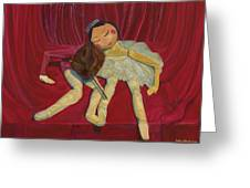 Ballerina And Partner Greeting Card
