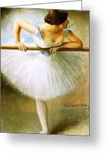 Ballerina At The Bar Greeting Card