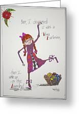Ballerina Greeting Card by Mary Kay De Jesus