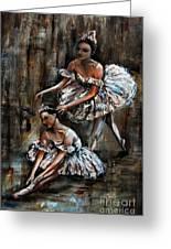 Ballerina Greeting Card by Nancy Bradley