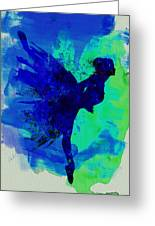 Ballerina On Stage Watercolor 2 Greeting Card