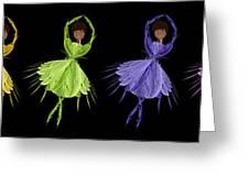 Ballerina Rainbow 2 Greeting Card