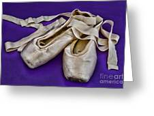 Ballerina Slippers Greeting Card