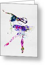 Ballerina Watercolor 2 Greeting Card