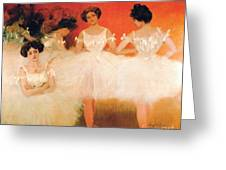 Ballerinas Resting Greeting Card by Pg Reproductions