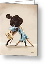 Ballet 1  Greeting Card by Karen  Loughridge KLArt