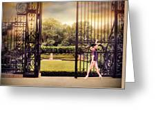 Ballet At The Vanderbilt Gate Greeting Card