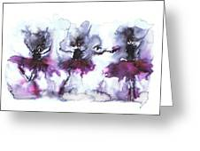 Ballet Dancers Greeting Card