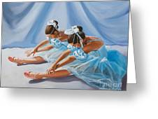 Ballet Dancers Greeting Card by Paul Walsh
