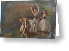 Ballet Dancers Greeting Card