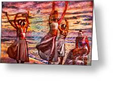 Ballet On The Beach Greeting Card