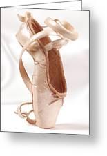 Ballet Shoe Greeting Card by Kitty Ellis