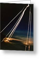 Ballistic Missile Paths Greeting Card