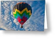 Balloon At Sunrise Greeting Card