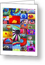 Balloon Fantasy Collage Greeting Card