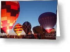 Balloon-glow-7783 Greeting Card