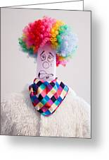 Balloon Heads - Derpie The Clown Greeting Card