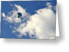 Balloon In The Clouds Greeting Card