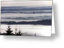 Balloon Over Fog Greeting Card