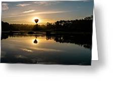 Balloon Over Snohomish River Greeting Card