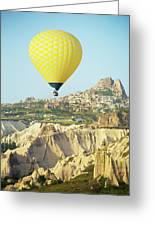 Balloon Ride Over Goreme National Park Greeting Card
