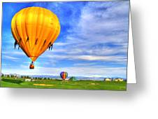 Balloonfest 9 Greeting Card by Scott Mahon