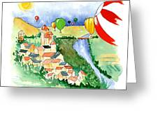 Ballooning In France 2 Greeting Card