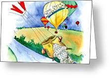 Ballooning In France Greeting Card