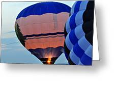 Balloons Before Sunset Greeting Card