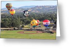 Balloons Over Wine Country Greeting Card