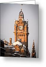 Balmoral Hotel Clock Tower Greeting Card