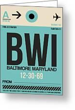Baltimore Airport Poster 1 Greeting Card